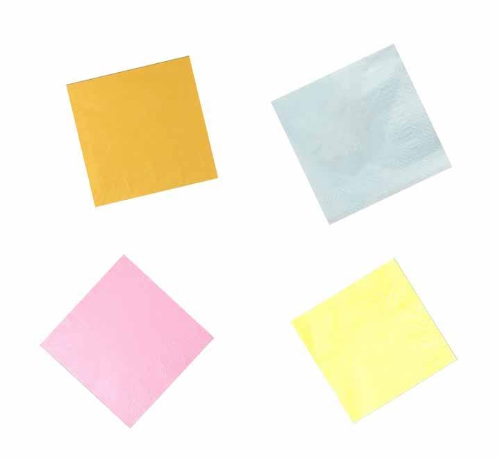 Χαρτοπετσέτα Εστιατορίου 28Χ28  Ά (Κίτρινο – Σιέλ – Ρόζ – Κρέμ)