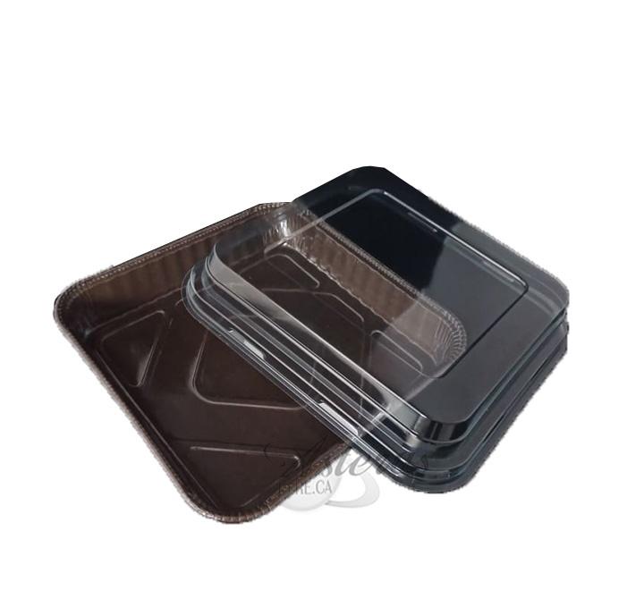 Ταψάκι Τετράγωνο Χάρτινο Μιας Χρήσης Eco + Καπάκι (μεγάλο)